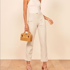 NWT The Reformation Taylor Pant in Sand 26